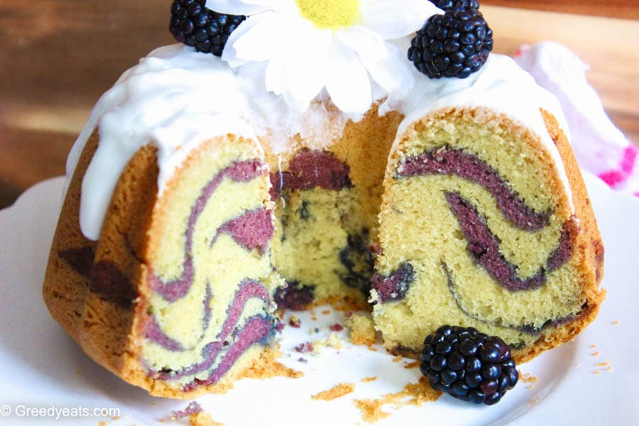 vanilla bundt cake recipe with berry swirls
