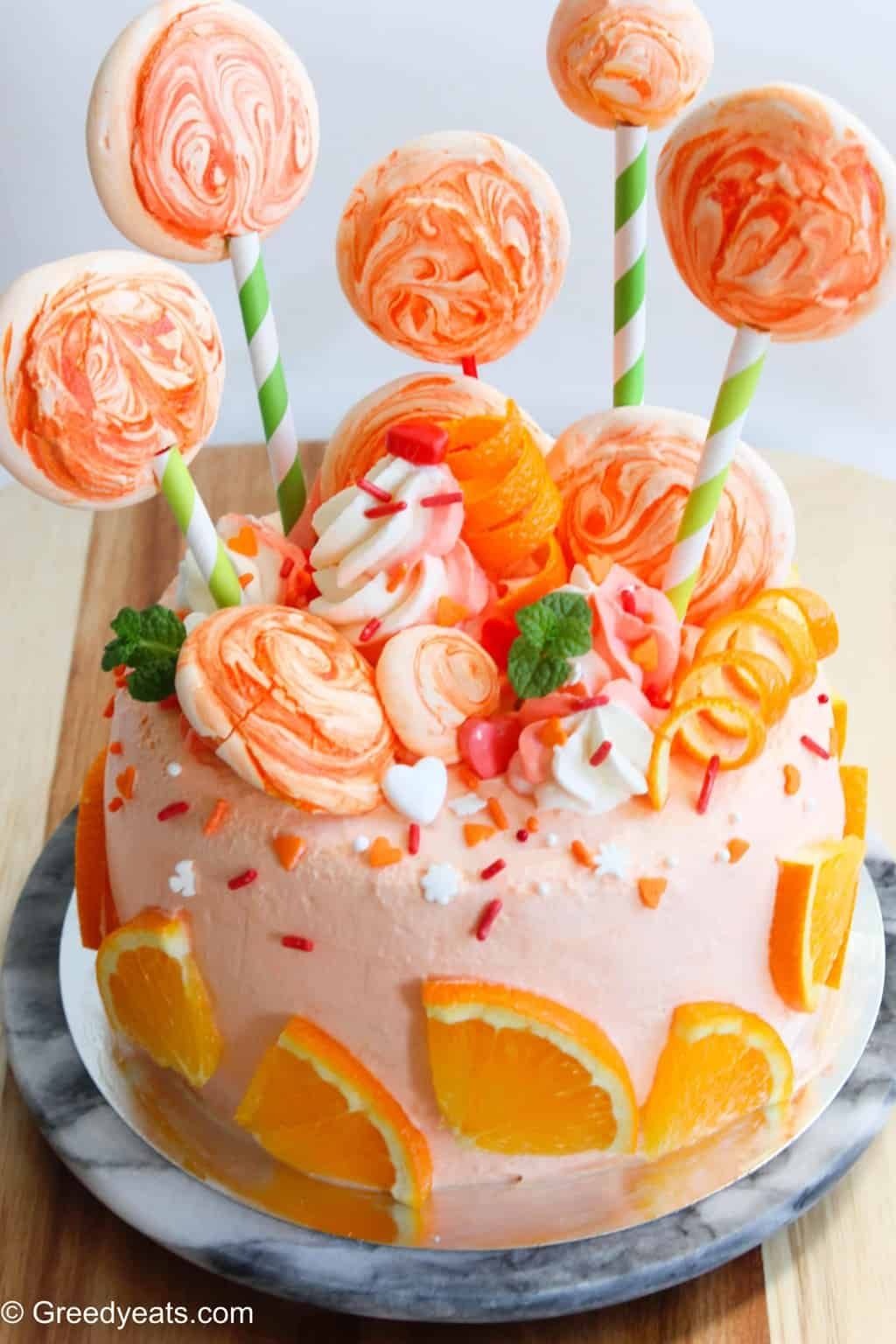 Easy summer dessert recipes-orange cake with orange frosting
