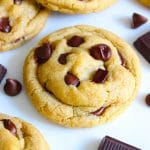 Best vegan chocolate chip cookies with chocolate chunks