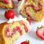 Moist and easy strawberry bundt cake