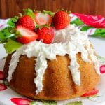 Homemade strawberry bundt cake recipe