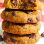 Best, chewy and easy pumpkin chocolate chip cookies (Small batch)