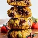 Thick and chewy oatmeal pumpkin cookies recipe