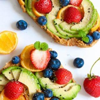 Sweet and simple avocado toast recipe