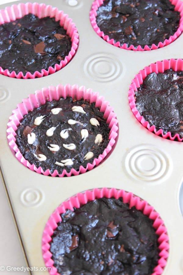 Brownie cupcake recipe in cupcake pan