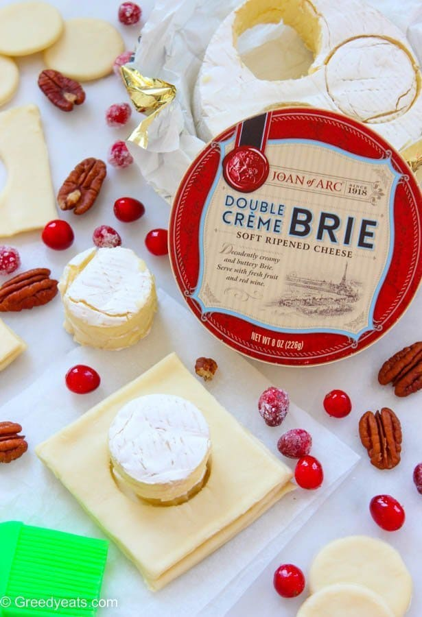Joan Of Arc Brie cheese for cranberry brie puff pastry