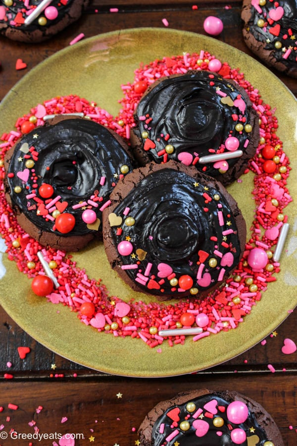 These Chocolate Cookies will win hearts when baked as Valentines Day Cookies.