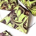Thick and chocolatey mint chocolate bark swirled with mint flavored white chocolate. Such a simple, festive and economical mint chocolate candy treat ever!