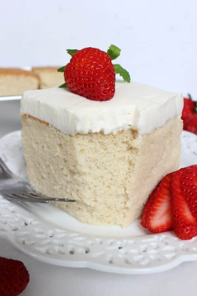 What's not to love about a soft and perfect sponge cake soaked in chilled creamy milk. Best tres leches cake if you will!