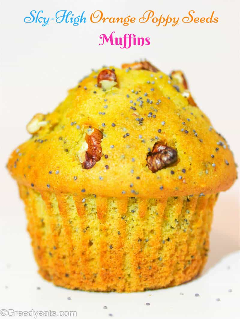 Tall and moist orange poppy seed muffins are sure to delight you on cold chilly days!