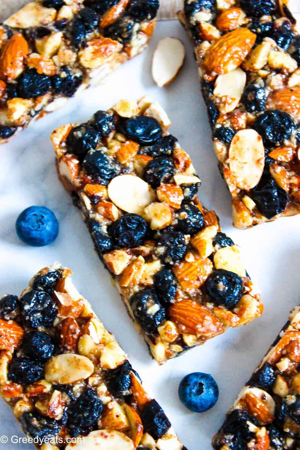 Chewy Almond Bars Recipe made with wholesome ingredients and packed with nutrients.