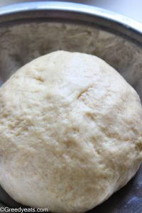 Cinnamon Roll Dough ready for first rise.