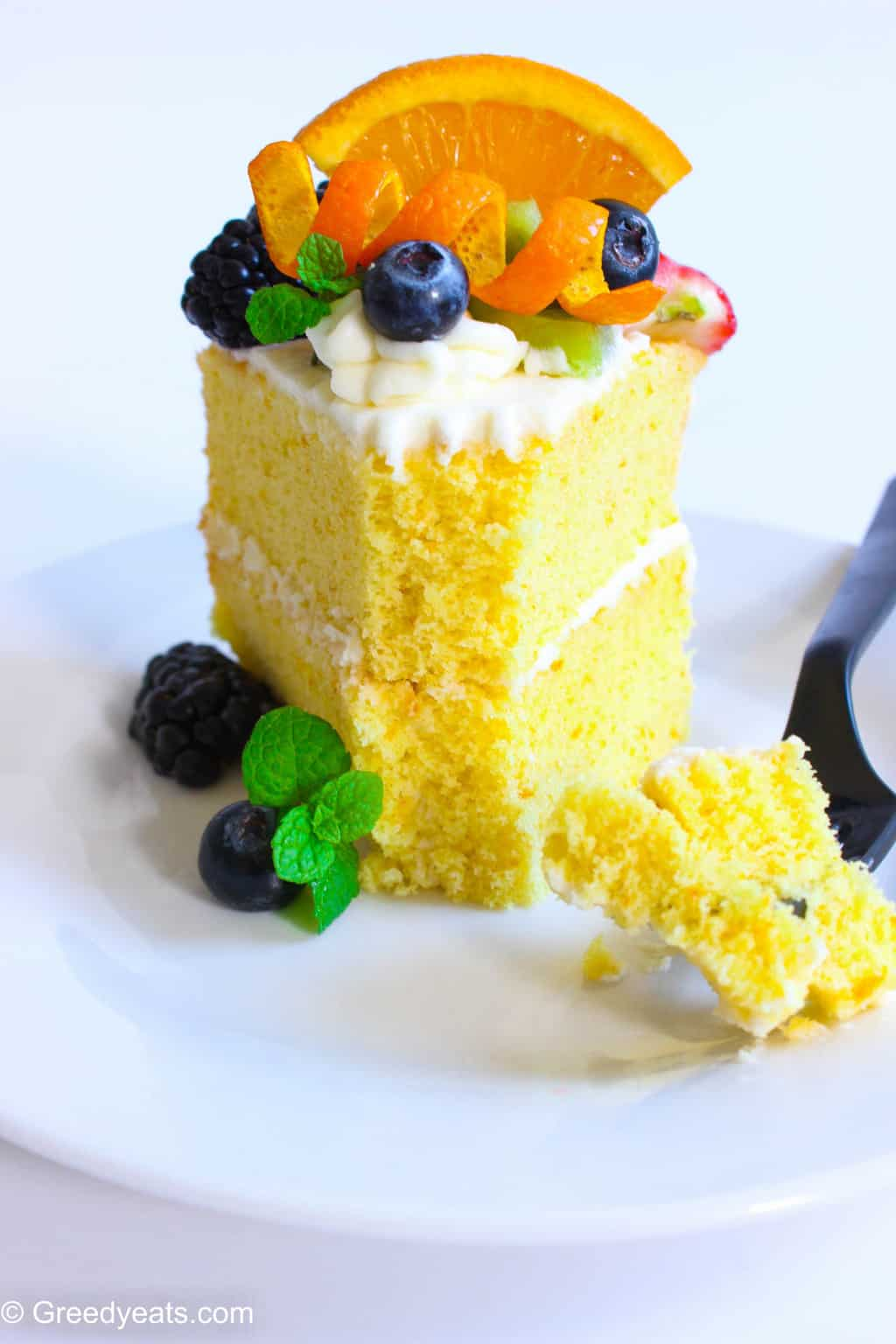 Deliciously moist, scented with orange and perfectly moist orange chiffon cake recipe!