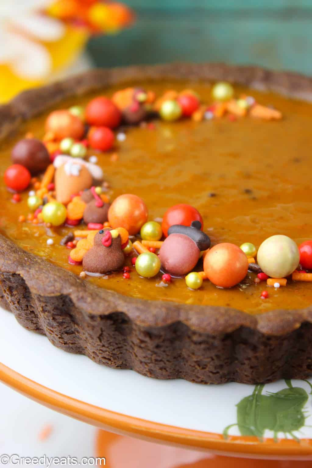 You will adore this Easy Pumpkin Tart recipe with a spiced pumpkin filling that sits on my best gingerbread crust!