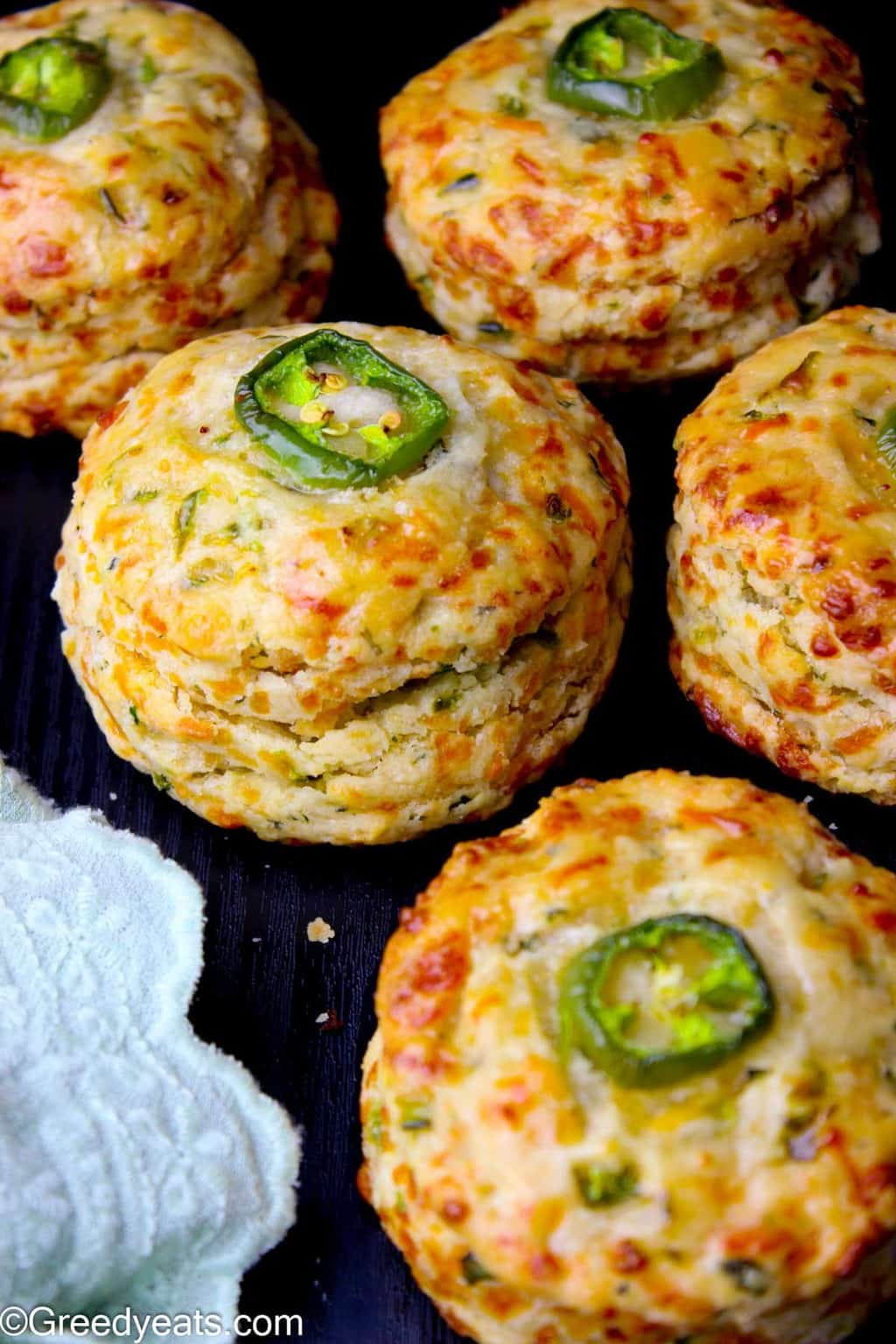 Looking for Thanksgiving sides recipe? Your search has ended with these buttery and flaky homemade Jalapeno Cheddar Biscuits recipe