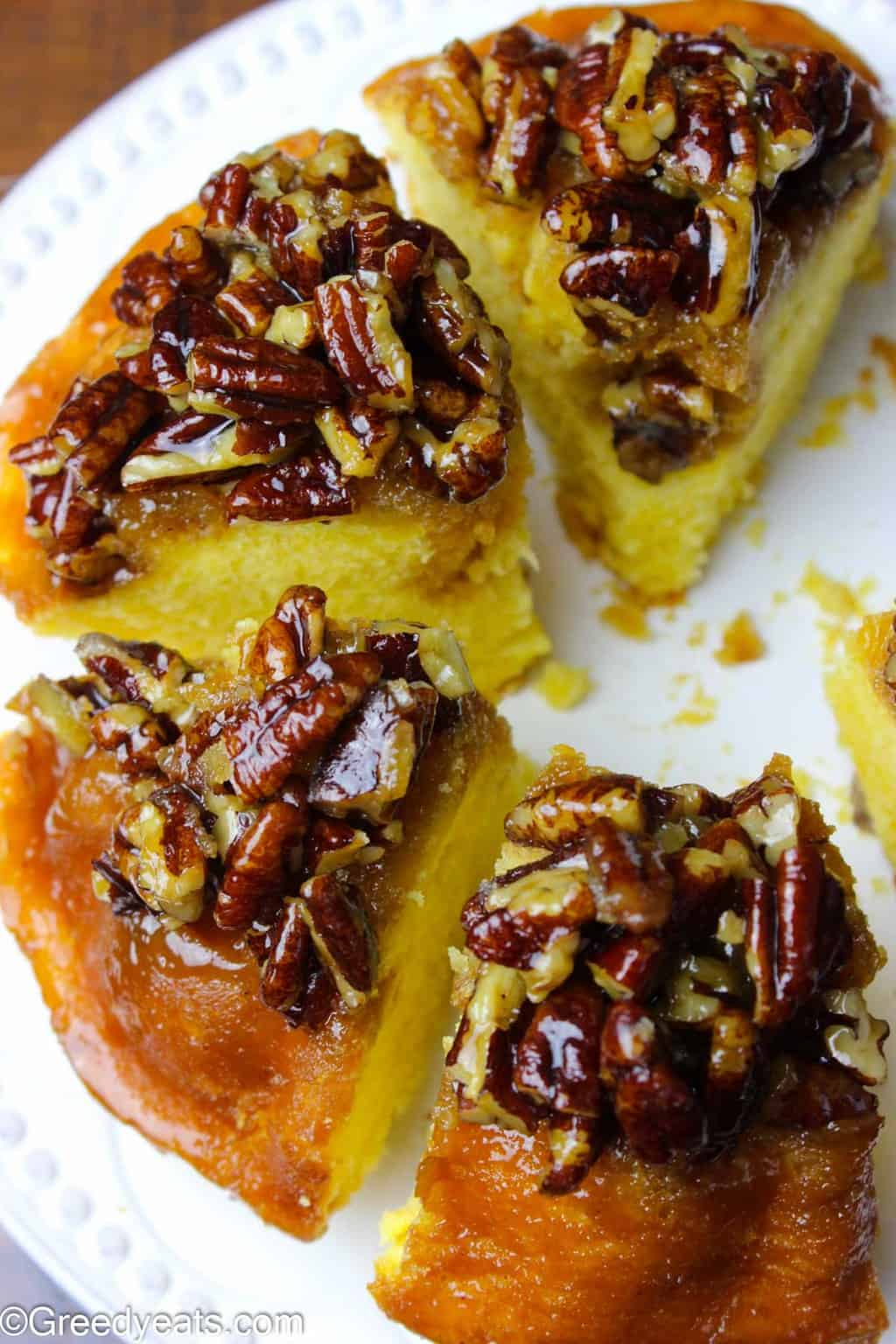 If you like butter pound cake and pecan pie this Pecan Pie Bundt Cake will be an instant favorite!