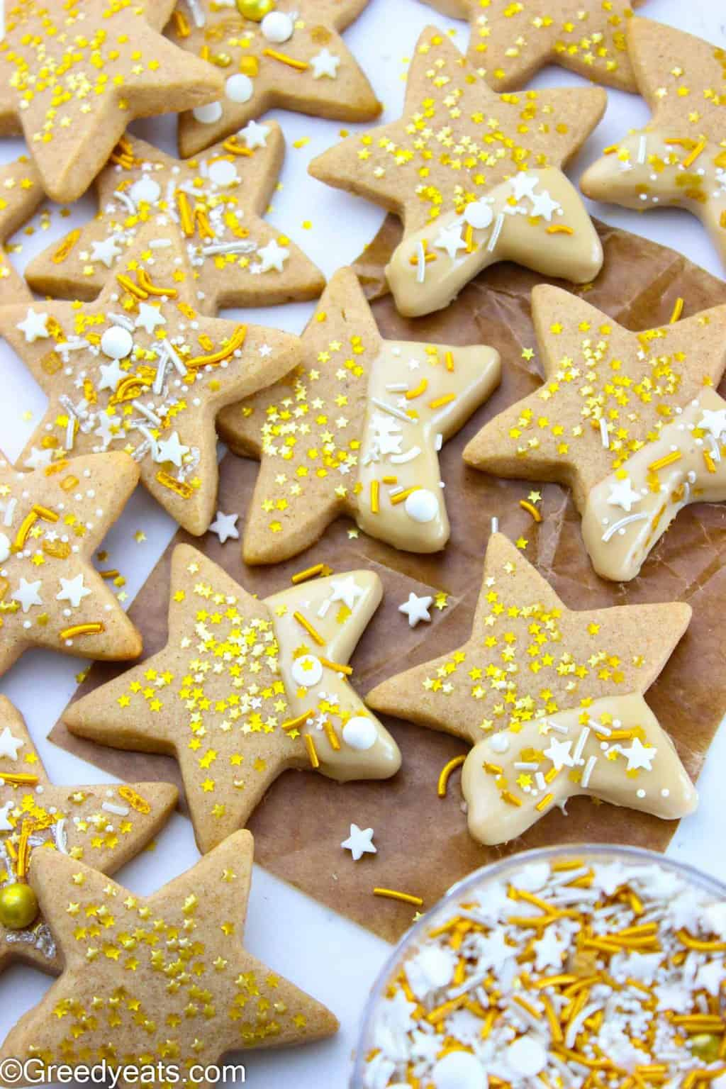 Maple Cinnamon Star Sugar Cookies! The best New Year's Cookie recipe ever!