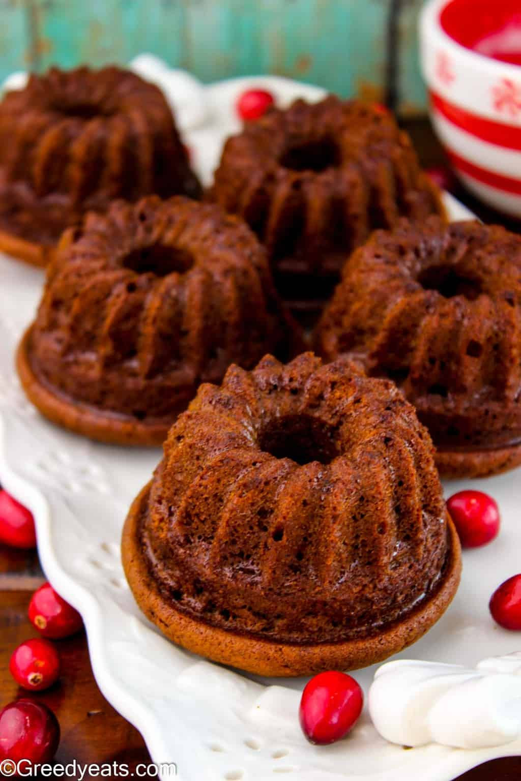 My Gingerbread Bundt Cake is an easy, one bowl and a perfect Holiday Dessert!