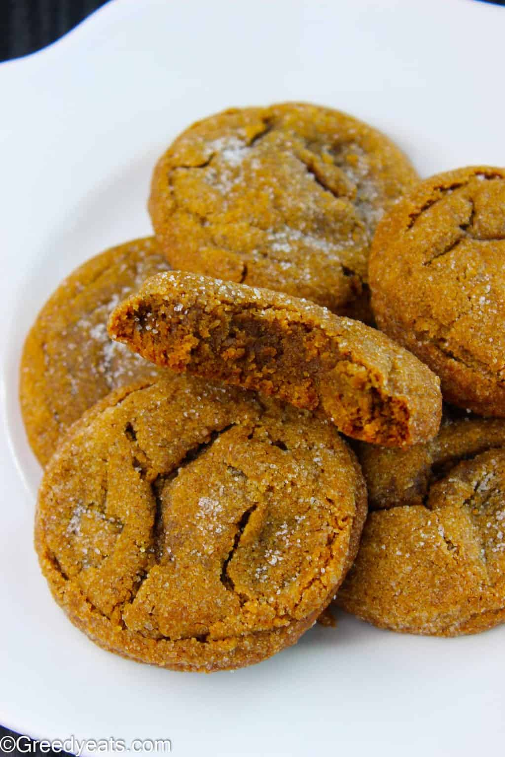 My Homemade Molasses Cookies feature crinkly tops, soft centers, chewy edges, robust molasses and warm spices flavors.