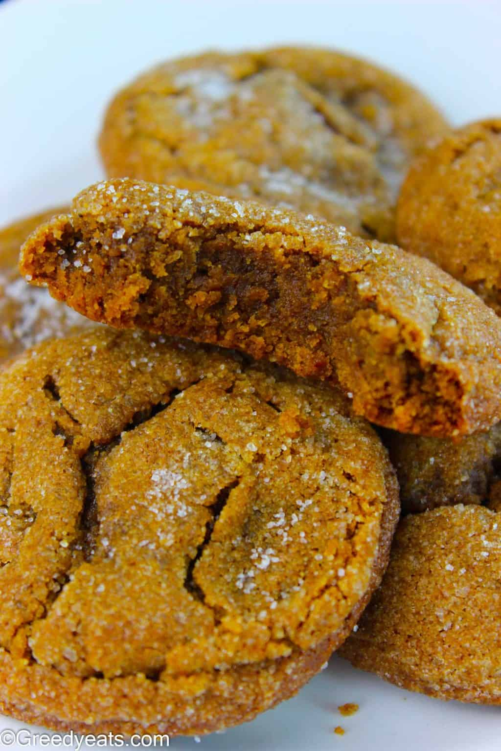 Crunchy on the edges and super soft in the centers these Chewy Molasses Cookies are a must try.