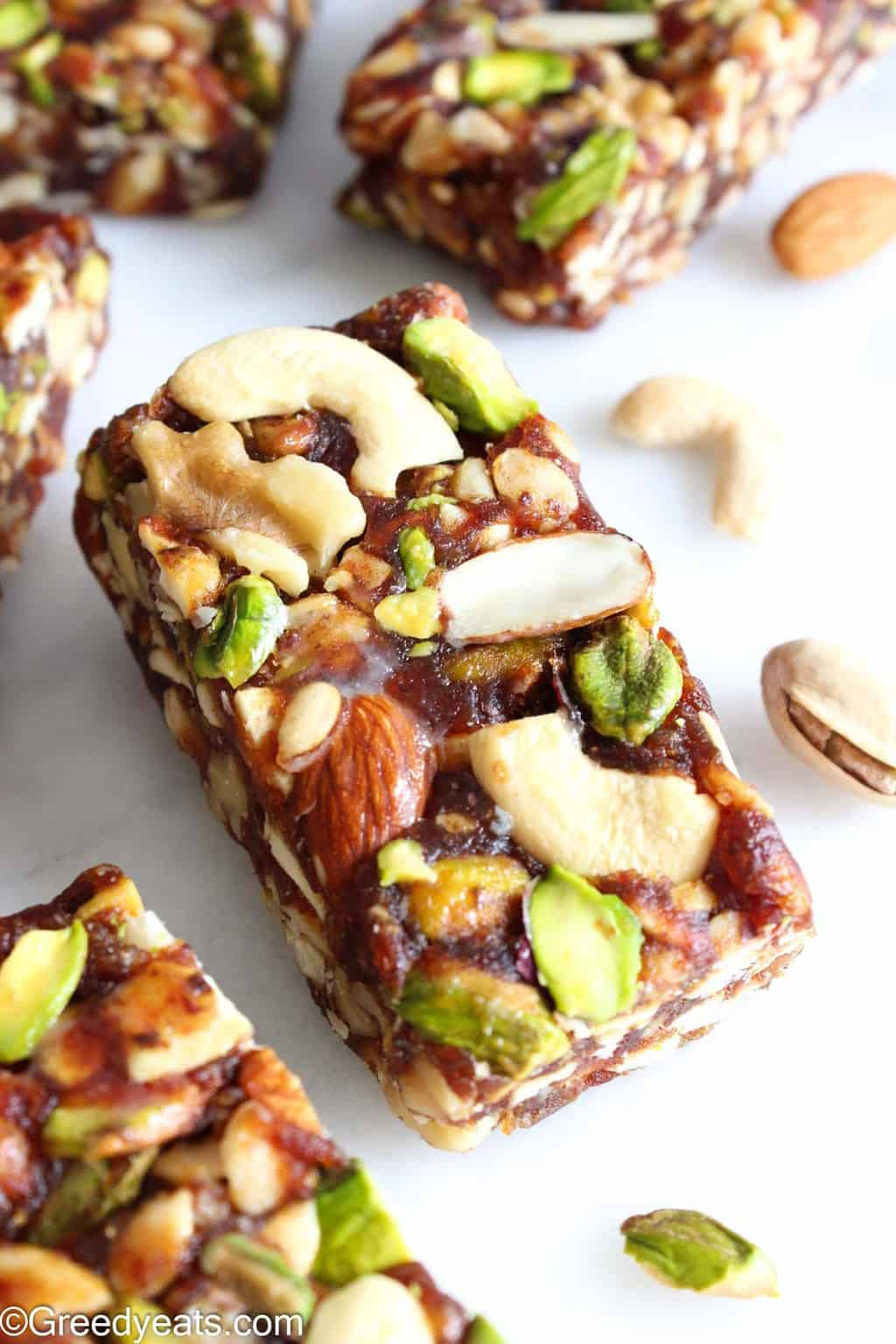 My Healthy Dates Bars are made with 3 simple ingredients. And this is a no bake snack bars recipe.