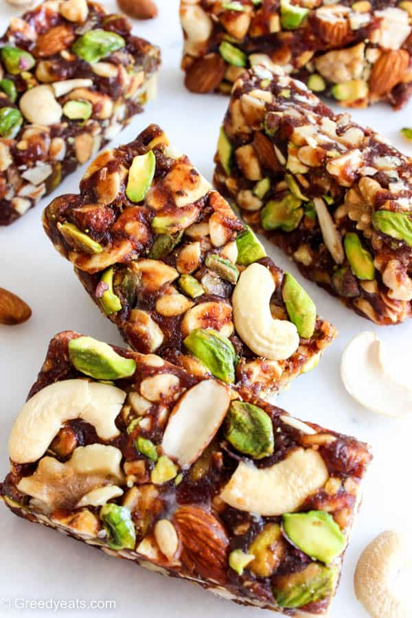 No bake and Healthy Dates Bars are loaded with nutrients and are naturally sweetened with dates.