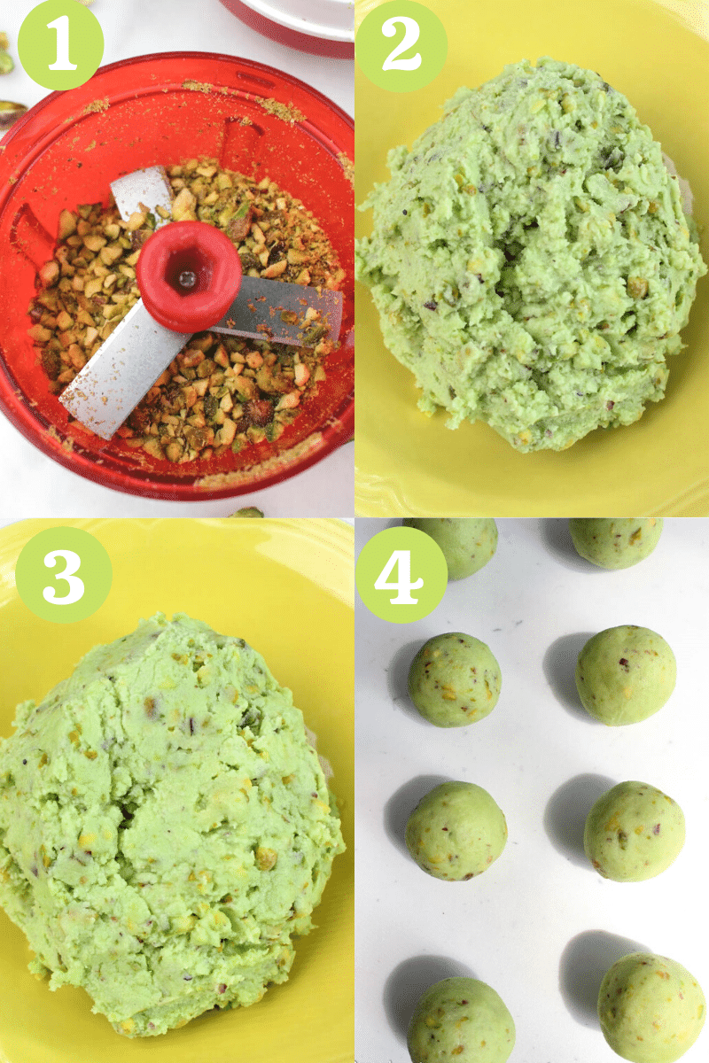 Learn how to make pistachio cookies with 7 ingredients step by step.