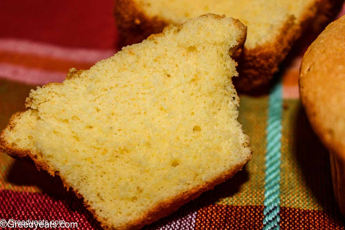 Moist and fluffy Orange Cupcakes texture made with egg whites and sour cream.
