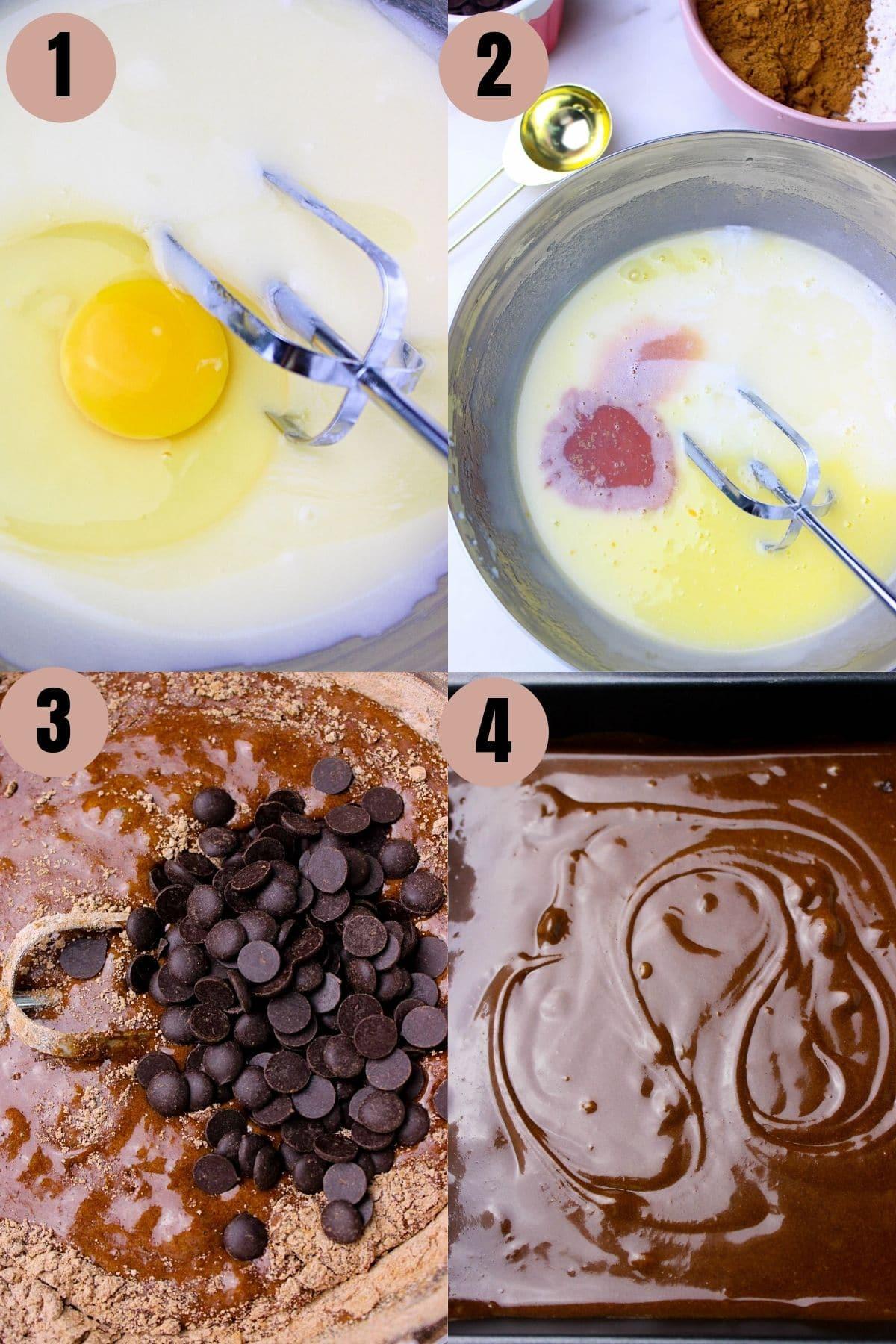 Process to make easy brownies in one bowl using simple ingredients.