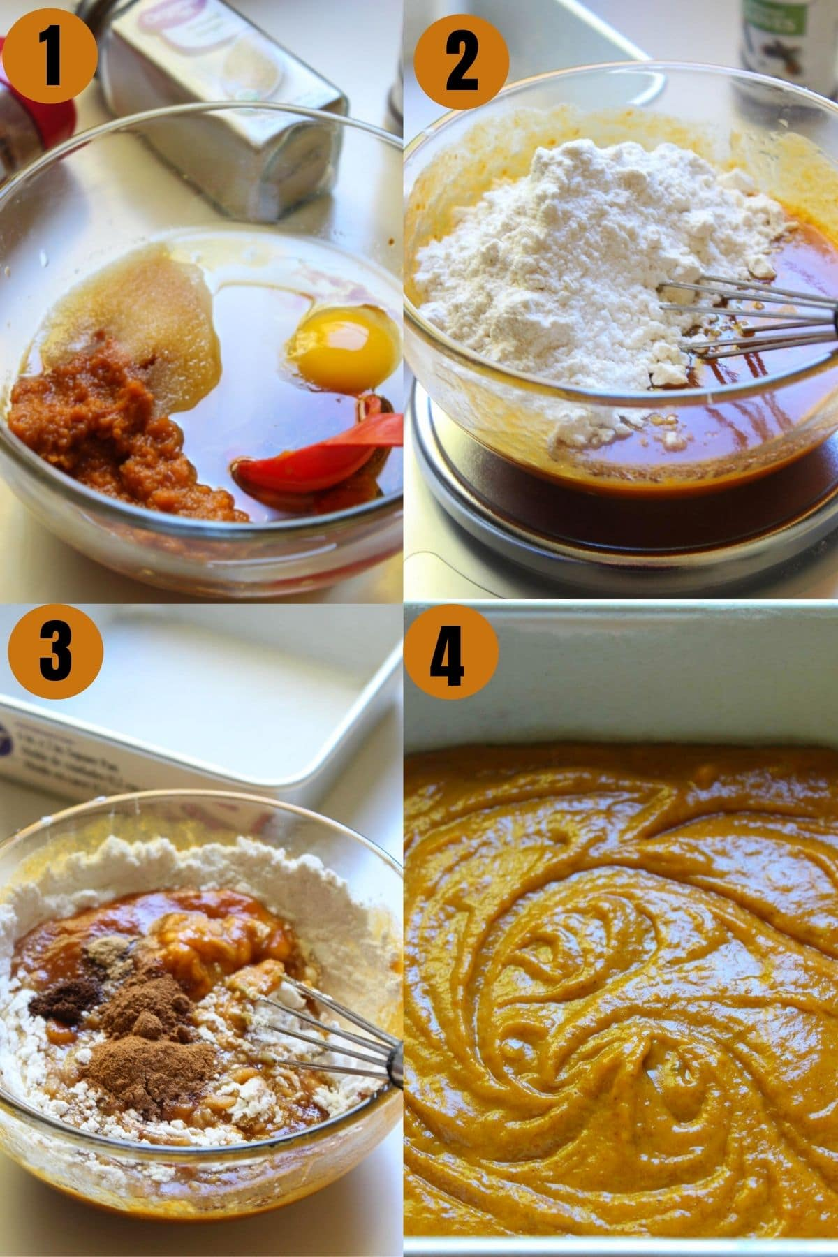 Step by step pictures on how to make the best and most easy pumpkin cake recipe.